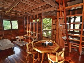 Octagon House, living room